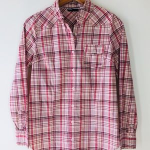 BDG Button Down Women's Shirt Red and white Size S